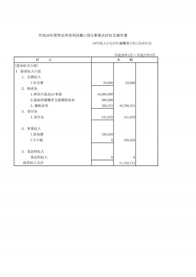 あゆむ会平成26年度会計報告_p1